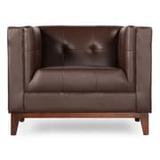 Kardiel Harrison Mid Century Modern Club Chair; Deep Brown