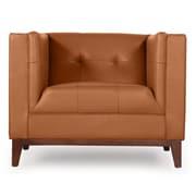 Kardiel Harrison Mid Century Modern Club Chair; Saddle Brown