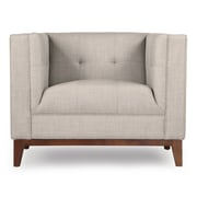 Kardiel Harrison Mid Century Modern Club Chair; Dove Gray