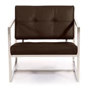 Kardiel Cube Modern 1950 Chair; Coco Brown