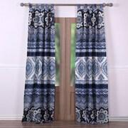 Greenland Home Fashions Medina Curtain Panel (Set of 2); Indigo