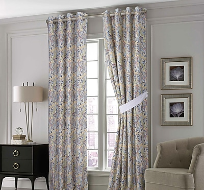 Tribeca Living Fiji Curtain Panels (Set of 2); 50'' W x 84'' L WYF078278732702