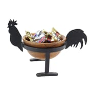 Pampa Bay Roosters Wood Candy/Nut Bowl