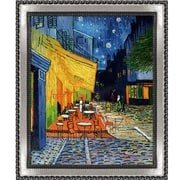 Tori Home Cafe Terrace at Night by Vincent Van Gogh Framed Painting