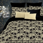 Veratex Flower Skulls Comforter Set; Queen