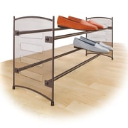 Lynk Steel Mesh Expandable and Stackable 2-Tier Shoe Rack; Bronze