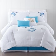 Panama Jack Ocean Shells 7 Piece Comforter Set; Queen