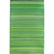 Fab Rugs Cancun World Green Indoor / Outdoor Area Rug; 6' x 9'