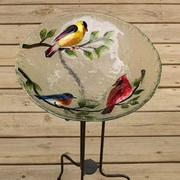 Evergreen Flag & Garden Songbirds Bird Bath