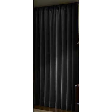 Maytex Blackout Single Curtain Panel; Black