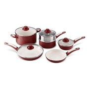 GreenPan Focus 10-Piece Non-Stick Cookware Set; Burgundy