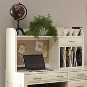 Liberty Furniture Hampton Bay 23'' H x 44'' W Writing Desk Hutch; Antique White