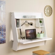 Wildon Home   Studio Floating Desk w/ 3 Shelves
