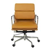 Design Tree Home Mid-Back Executive Office Chair; Orange