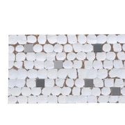 Ecotessa Kelapa 16.54'' x 16.54'' Coconut Shell and Ceramic Mosaic Tile in Fusion - White Patina