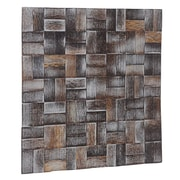 Ecotessa Terra 16.54'' x 16.54'' Palm Wood Hand-Painted Tile in Coastal