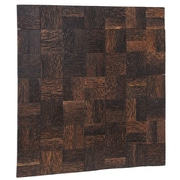 Ecotessa Terra 16.54'' x 16.54'' Palm Wood Hand-Painted Tile in Manhattan