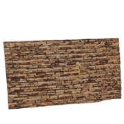 Ecotessa Artistica Cocostone 8.27'' x 16.54'' Coconut Shell Hand-Painted Tile in Maple Gold