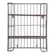 Creative Co-Op Country Metal Wire 2 Shelve Shelf