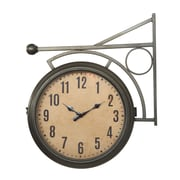 Creative Co-Op Turn of the Century Metal 2-Sided Station Clock