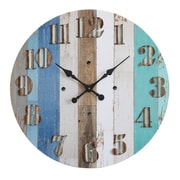 Creative Co-Op Waterside Round MDF Wall Clock
