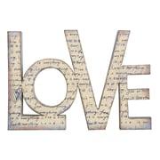 Creative Co-Op Sayings Tin Love Wall D cor