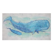 Creative Co-Op 'Come With Me Whale' by Chad Barrett Original Painting on Canvas