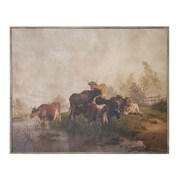 Creative Co-Op Turn of the Century 'Vintage Reproduction of Cows' Painting Print