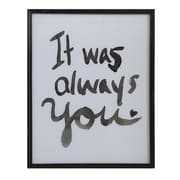 Creative Co-Op Smudge 'It Was Always You' Framed Textual Art
