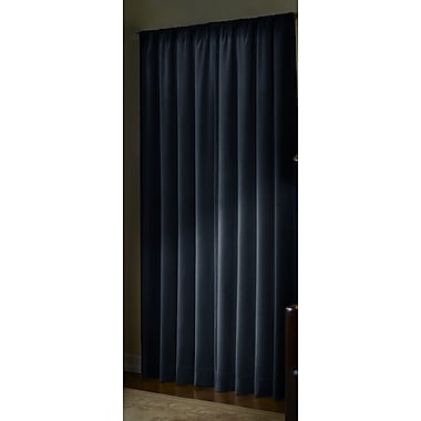 Maytex Serenity Thermal Blackout Single Curtain Panel; Navy