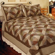 Elegant Decor Country Cottage Quilt; Twin