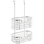 Simplify 2 Tier Over-the-Cabinet Organizer Rack; Chrome