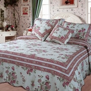 DaDa Bedding French Country Quilt Set; Queen