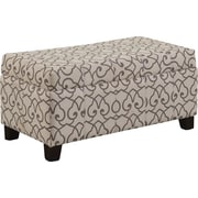WorldWide HomeFurnishings Fabric Storage Ottoman