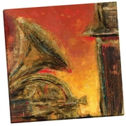 Portfolio Canvas Brass and Strings I by Dupre Painting Print on Wrapped Canvas