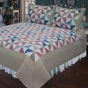 Elegant Decor Playful Pinwheel Quilt; Twin