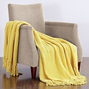 BOON Throw & Blanket Knitted Tweed Throw Blanket; Sunshine Yellow