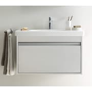 Duravit 39'' Single Wall Mount Bathroom Vanity Set; White Matte