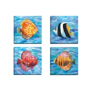 Portfolio Canvas Tropical 2 by Sandy Doonan 4 Piece Painting Print on Wrapped Canvas Set