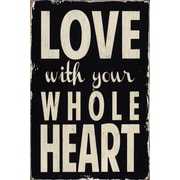 Portfolio Canvas Whole Heart by Barn Owl Primitives Textual Art on Wrapped Canvas