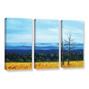 ArtWall 'Serene Mountain Tops' by Gene Foust 3 Piece Painting Print on Wrapped Canvas Set