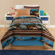 Royale Linens Kidz Mix Safari Reversible Bed-In-A-Bag Set; Twin