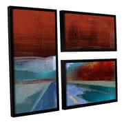 ArtWall 'Landscape I' by Greg Simanson 3 Piece Framed Graphic Art on Canvas Set