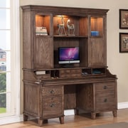 Fairfax Home Collections Harrison Flats Credenza Desk with Hutch