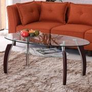 Hodedah Coffee Table; Clear