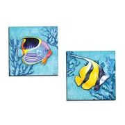 Portfolio Canvas Azure Tropical Fish I by Paul Brent 2 Piece Painting Print on Wrapped Canvas Set