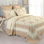 Laurel and Mayfair Rosaleen Cotton Quilted Bedspread; King