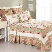 Laurel and Mayfair Jasmine Cotton Quilted Bedspread; King