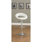 Hokku Designs Theory Adjustable Height Swivel Bar Stool (Set of 2); White