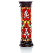 River of Goods Fleur De Lis Tiffany Style Stained Glass 30'' H Floor Lamp